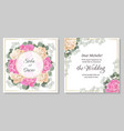 floral template for a wedding invitation round vector image vector image