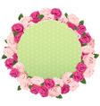 Flower Wreath with Greeting Card vector image vector image