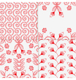 four different floral patterns vector image vector image