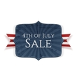 Fourth of July Sale realistic Banner vector image vector image