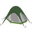 Green camping tent vector image vector image