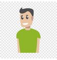 green clothes smiling man icon cartoon style vector image