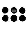grunge circlesgrunge round shapes dirty artistic vector image vector image