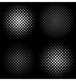 halftone frames a set 4 halftone frame patterns vector image