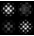 Halftone Frames A set of 4 halftone frame patterns vector image vector image