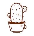 Hand Drawn Cactus vector image