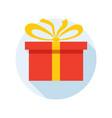 holiday gift box vector image vector image