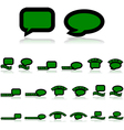 Interaction icons vector image vector image