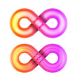 isolated infinity glowing shape unlimited symbol vector image vector image