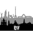 Kiev silhouette vector image vector image