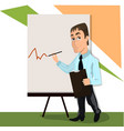 lector or trainer stand near board presentation vector image