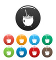 magic cauldron icon simple style vector image vector image