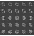 Money convert icons vector image