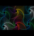 moving colorful spiral lines abstract template vector image