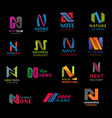 n letter font design modern business company icons vector image vector image