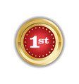 number one first place golden medal icon isolated vector image vector image