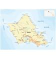 oahu road map hawaii vector image vector image