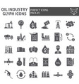 oil industry glyph icon set fuel production vector image