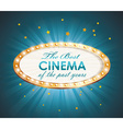 Old Cinema banner with light bulbs cinema vector image vector image