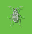 paper sticker on background of soldier bug vector image vector image
