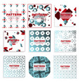 patterns set distress texture grunge design vector image vector image