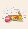 pizza fast food vector image