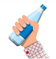plastic bottle fresh pure mineral water vector image vector image