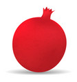 pomegranate icon realistic style vector image