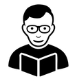 Reader Flat Icon vector image vector image