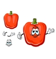 Red bell pepper cartoon vegetable vector image