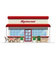 restaurant building vector image vector image
