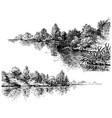 river banks and vegetation set vector image vector image
