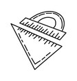 ruler icon doodle hand drawn or outline icon style vector image