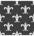 Seamless fleur-de-lis royal white pattern vector image