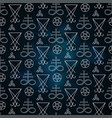 seamless pattern with occult symbols vector image vector image