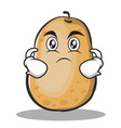 serious potato character cartoon style vector image vector image