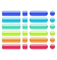 set colored web background buttons vector image