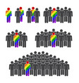 sexual minority on white background vector image