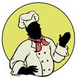 silhouette Chef vector image vector image