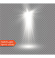 spotlight on a transparent background the vector image vector image
