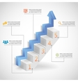 Success Steps Concept Arrow and Staircase vector image