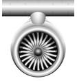turbine a jet engine a modern aircraft vector image vector image