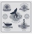 Vintage restaurant nautical labels set vector image vector image