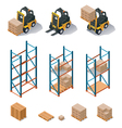 Warehouse equipment icon set vector | Price: 5 Credits (USD $5)