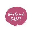 weekend sale design template vector image vector image