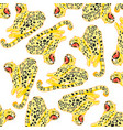 wildlife leopard decorative pattern on white vector image vector image