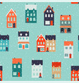 winter houses for christmas and christmas fabrics vector image