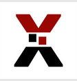 x vxv initials letter company logo and icon vector image vector image