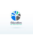 education or skill logo concept with creative vector image