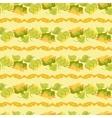 sunflower border seamless pattern on light yellow vector image